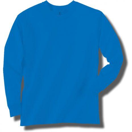 Neon Blue Long Sleeve T-Shirt