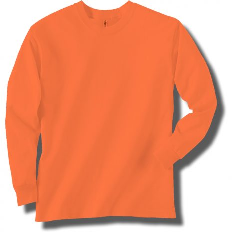 Neon Orange Long Sleeve T-Shirt
