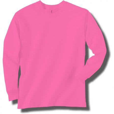 Neon Pink Long Sleeve T-Shirt