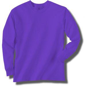 Neon Purple Long Sleeve T-Shirt