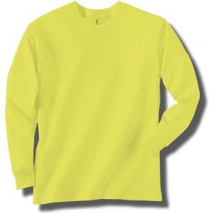 Neon Yellow Long Sleeve T-Shirt