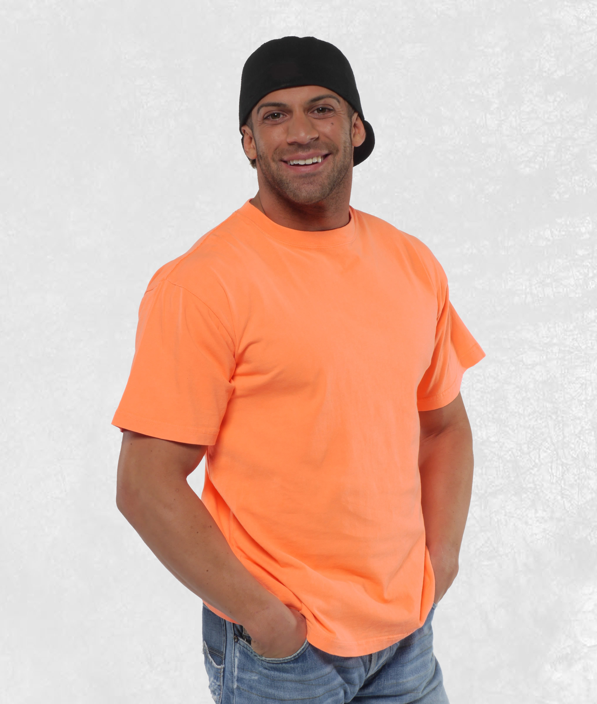 Adult Neon Orange Short Sleeve Tees