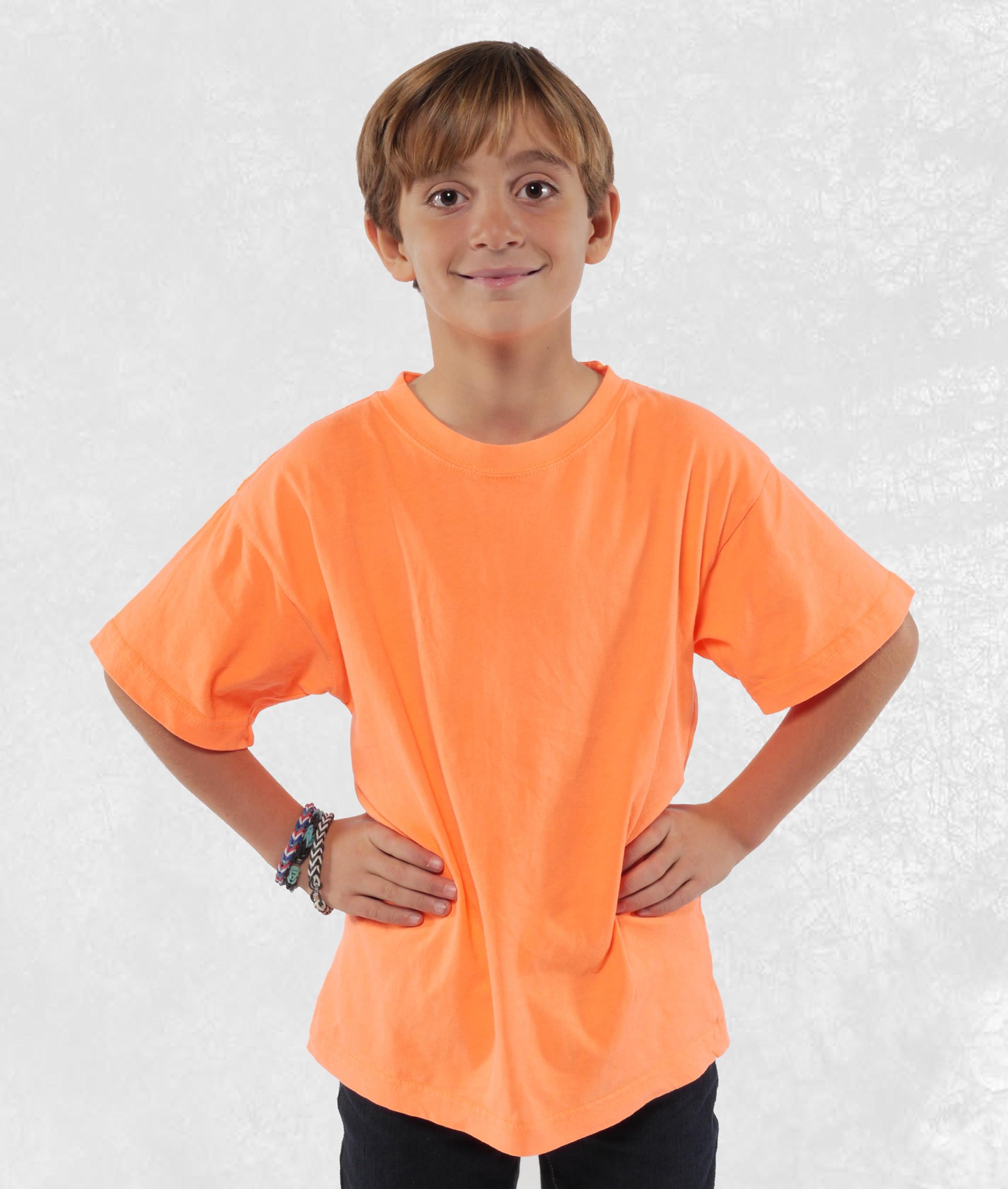 Neon Orange Youth Short Sleeve Tees