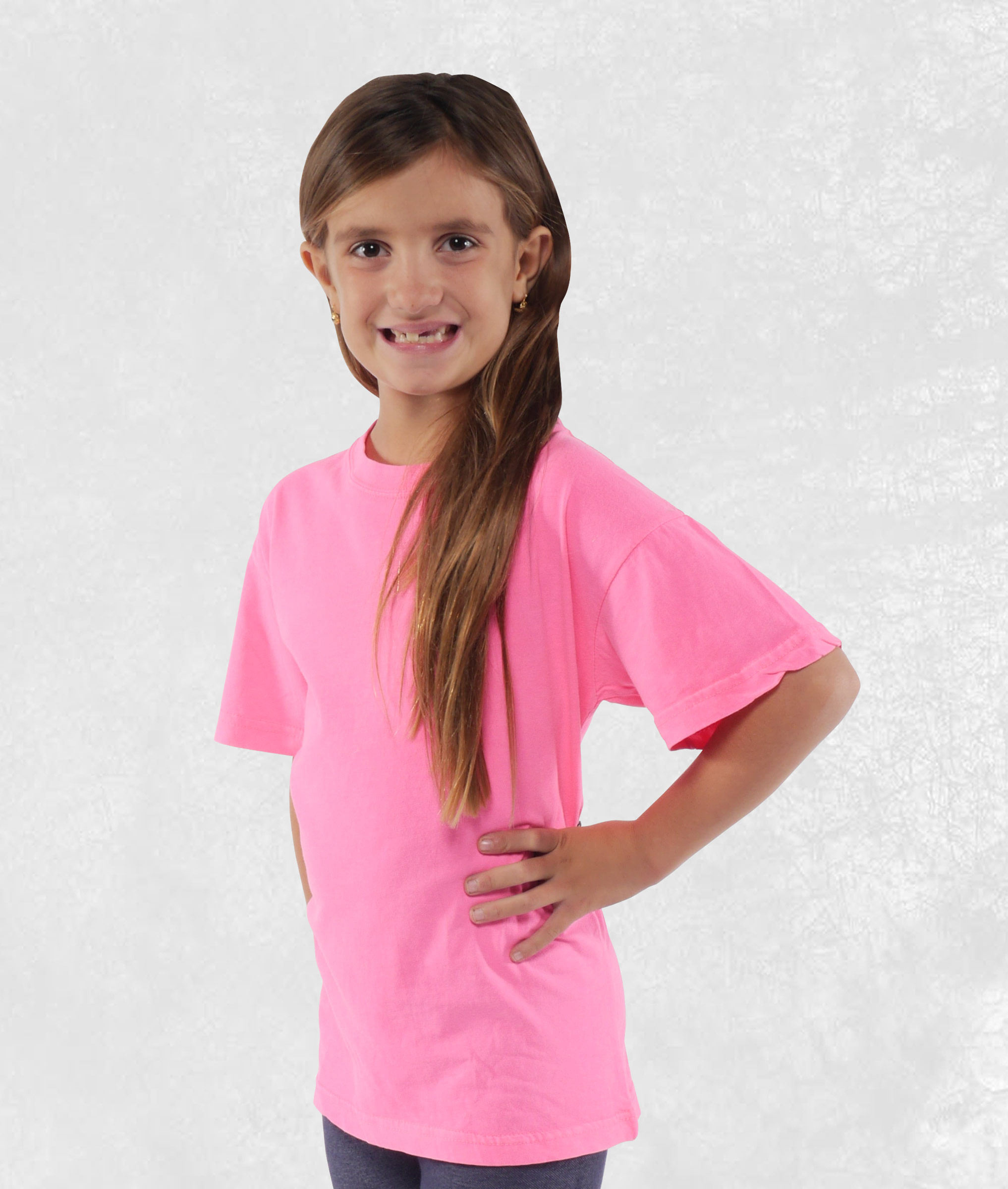 Neon Pink Youth Short Sleeve Tees