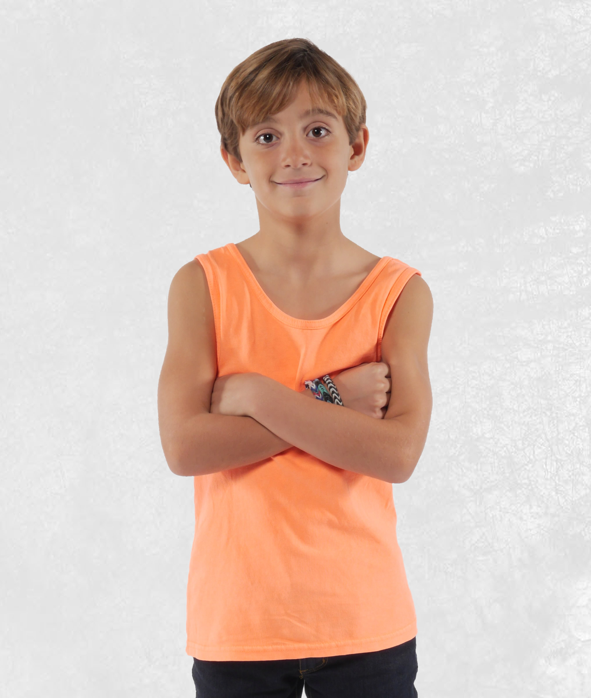 Youth Neon Orange Tank Top