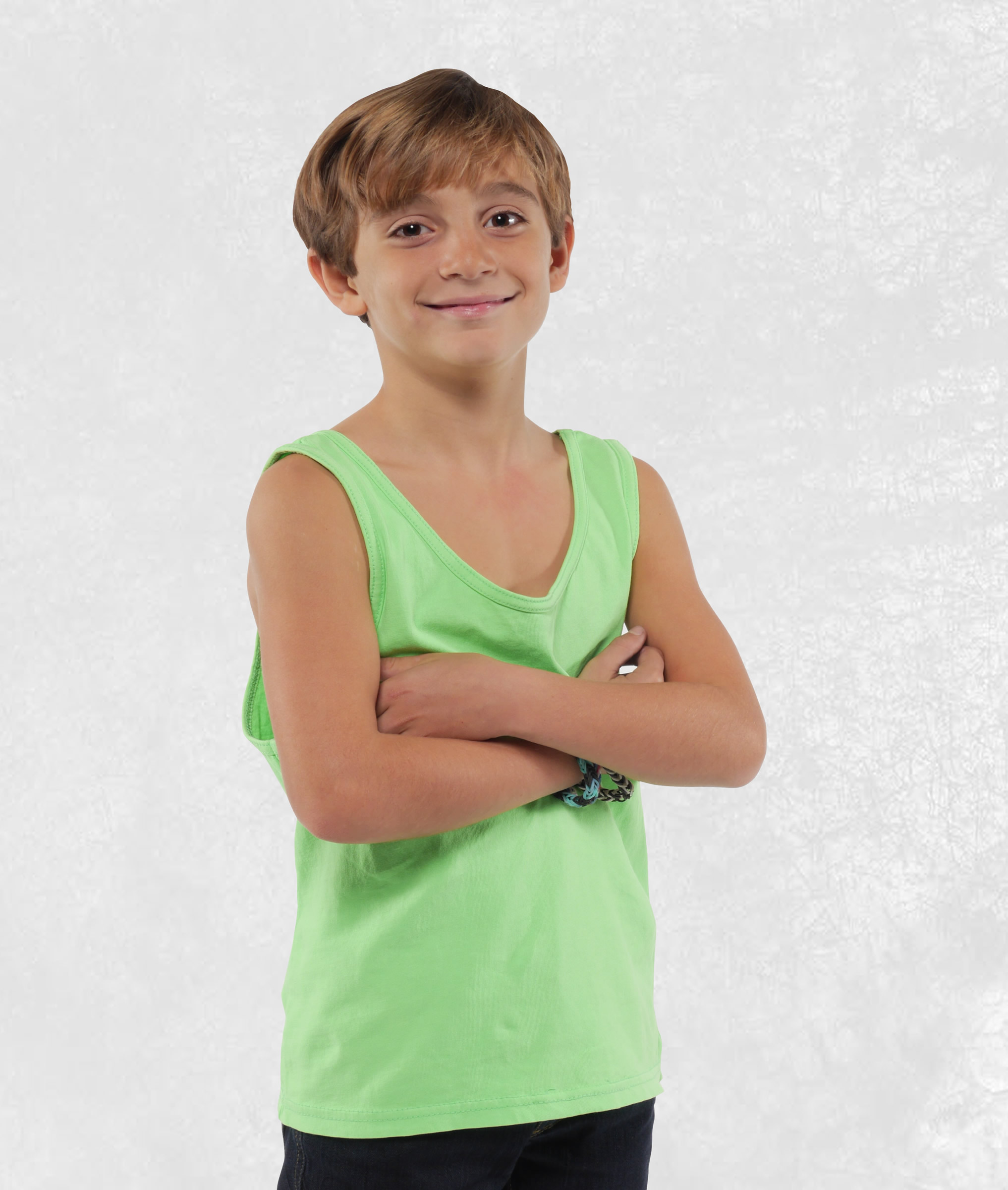 Youth Neon Green Tank Top