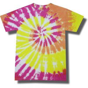 Neon Summer Sunset Tie Dye Tee