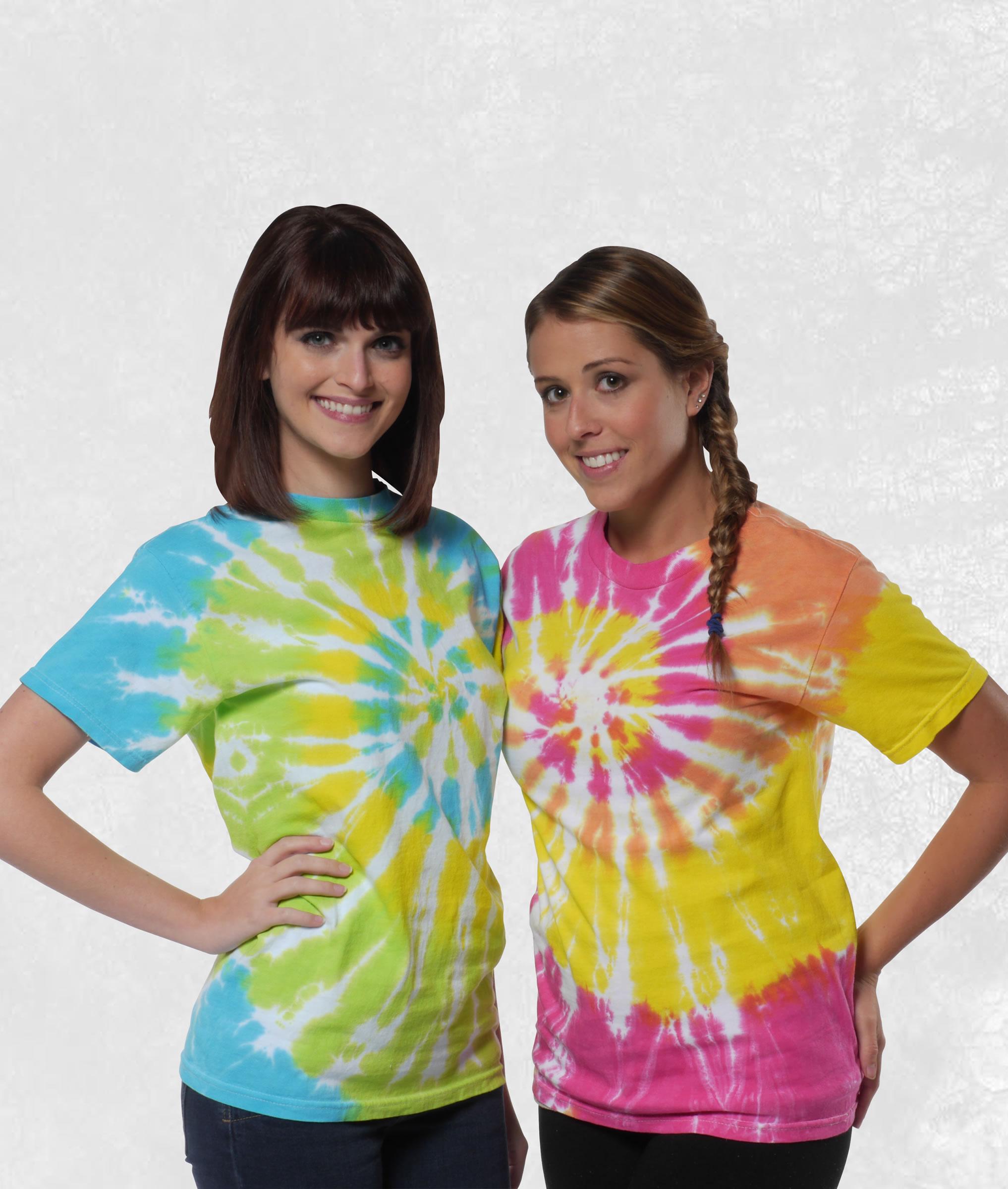 Neon Tie Dye Short Sleeve Tees