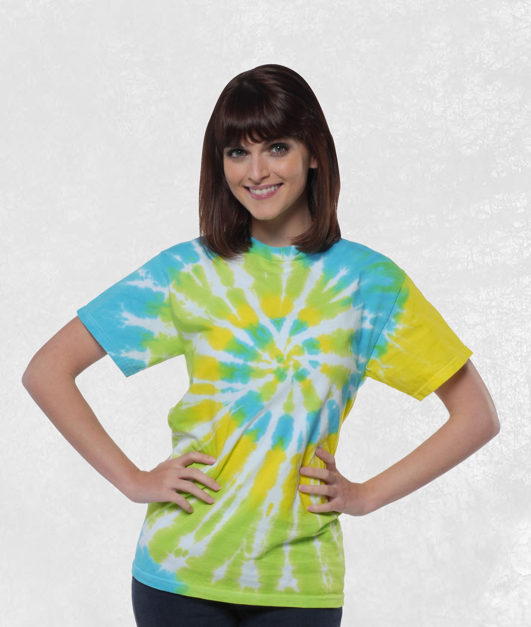 Neon Cool Breeze Tie Dye Short Sleeve Tee