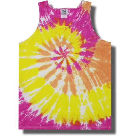 Neon Summer Sunset Tie Dye Tank