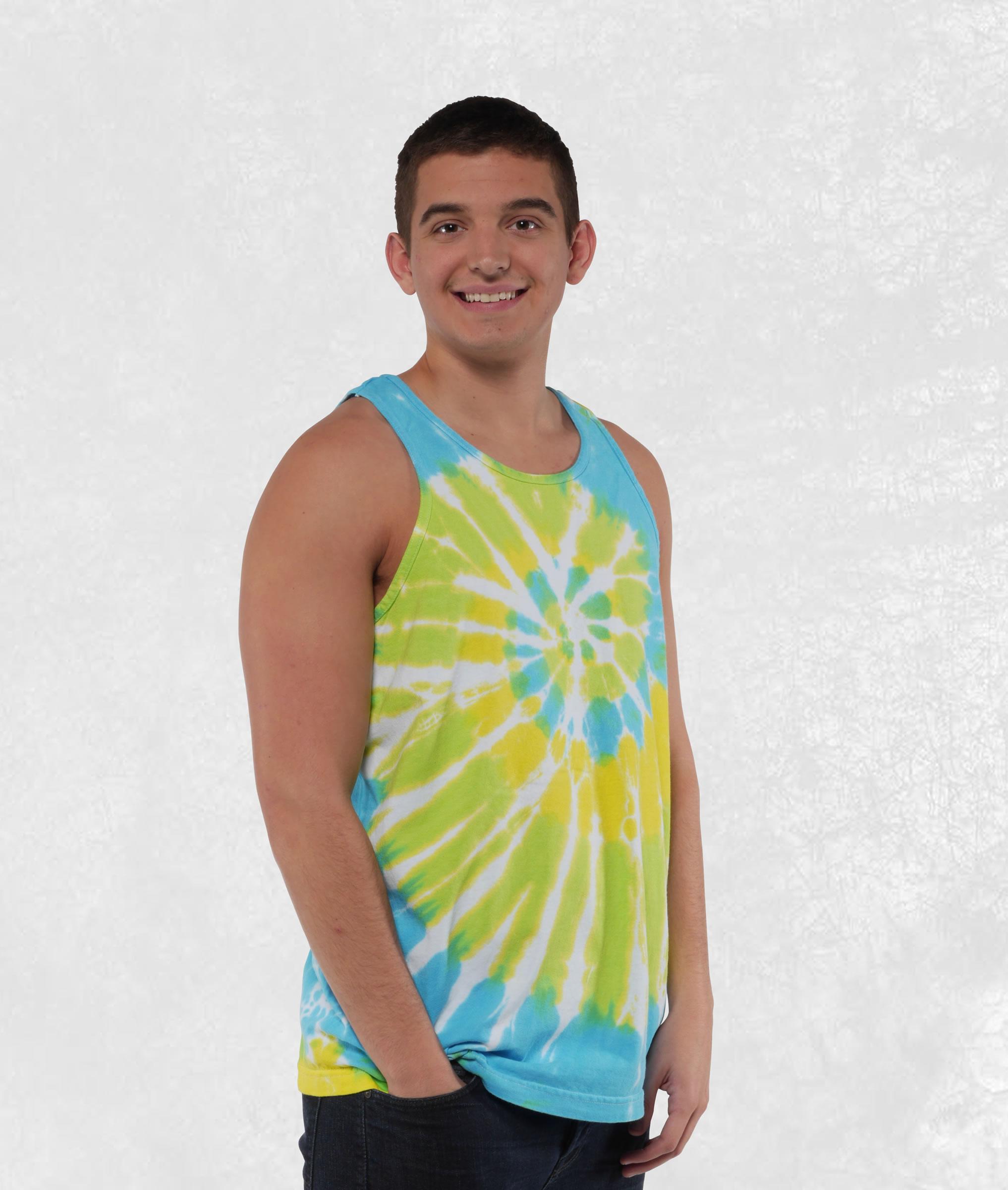 Neon Cool Breeze Tie Dye Tank Top