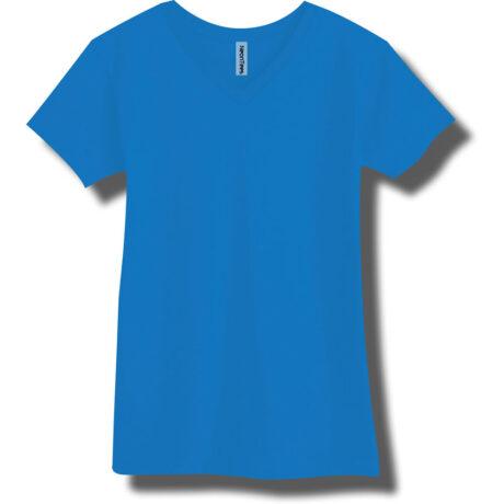 Neon Blue V-Neck T-Shirt