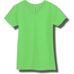Neon Green V-Neck T-Shirt