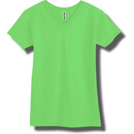 Neon Green V-Neck T-Shirt