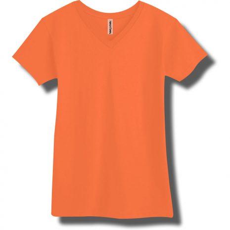 Neon Orange V-Neck T-Shirt