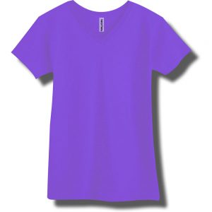 Neon Purple V-Neck T-Shirt