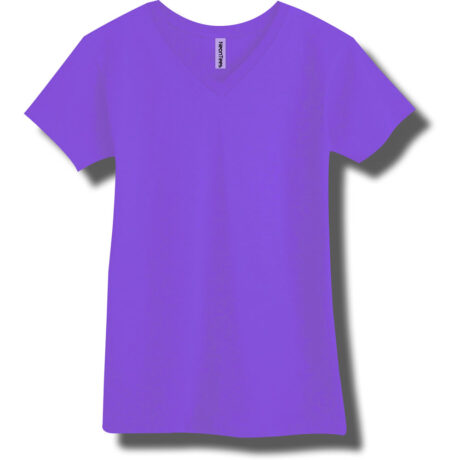 Neon Purple V-Neck T-Shirt