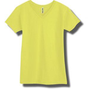 Neon Yellow V-Neck T-Shirt