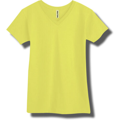 Neon Yellow V-Neck T-Shirt